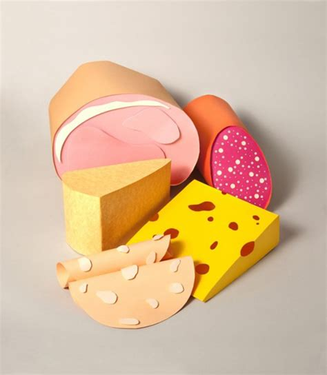 Papercraft Food - paper craft sculptures of food 2 fubiz media
