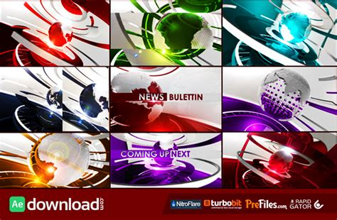 templates after effects free sports ultimate broadcast news package videohive template