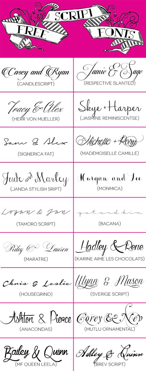 Wedding Fonts by 18 Free Script Fonts For Your Diy Wedding Invitations