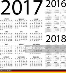 Kalender 2017 Und 2018 German Calendar 2017 2016 2018 Illustration Vector