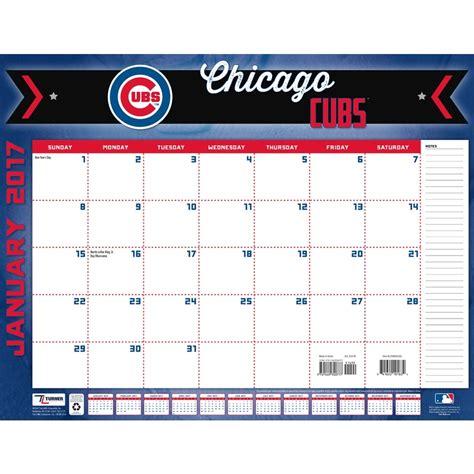 Cubs Calendar Chicago Cubs 2017 Desk Pad 9781469340777 Calendars
