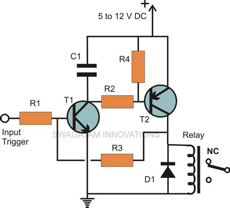transistor emergency turn simple hobby electronic circuits