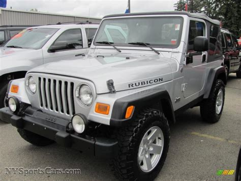 jeep rubicon silver 2006 jeep wrangler rubicon 4x4 in bright silver metallic