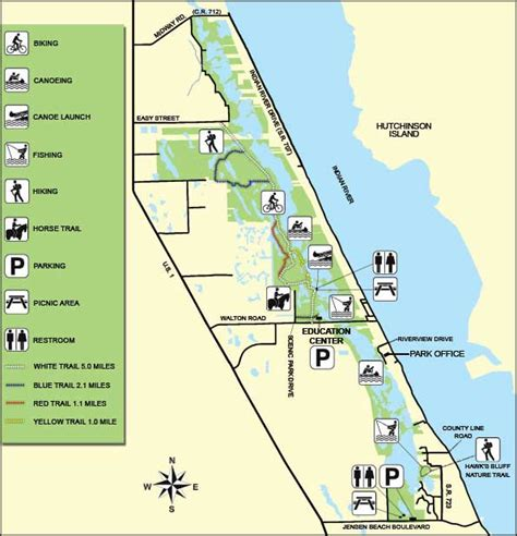 florida state parks map savannas preserve state park florida state parks