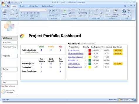 Project Portfolio Dashboard Template Projectemplates Program Dashboard Template Excel