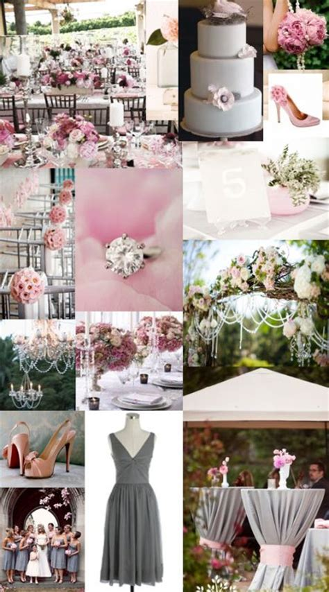 wedding color idea pink and grey white silver oooo now silver grey or pink table cloth weddingbee