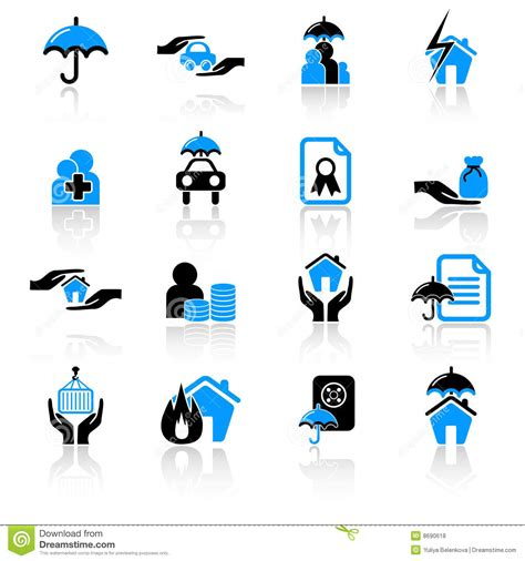 Insurance Icons Royalty Free Stock Photos   Image: 8690618
