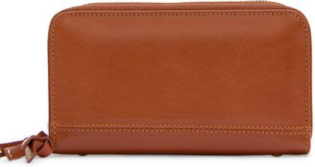 Mango Touch Wallet mango touch zip leather wallet in brown 74 lyst