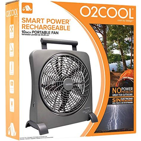 o2cool 10 inch portable fan with ac adapter o2cool 10 inch portable smart power fan with ac adapter