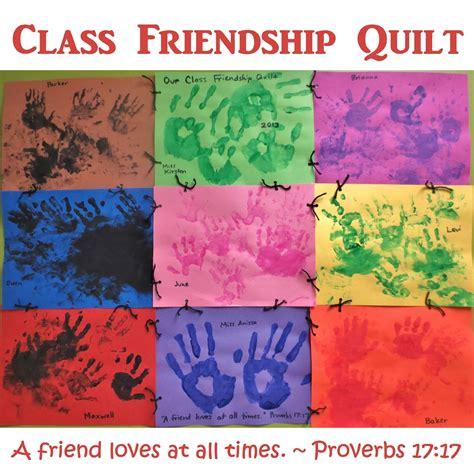 friendship craft ideas princesses pies preschool pizzazz class friendship quilt