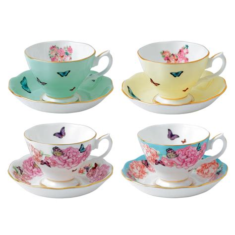 teacup saucer set of 4 miranda kerr for royal albert us