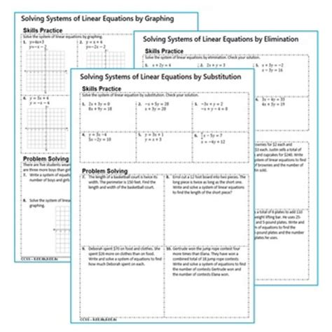 Systems Of Equations Word Problems Practice Worksheet
