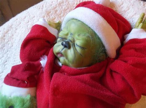 reborn baby sleeping grinchart doll ooak holiday xmas