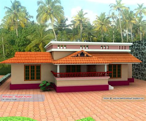 home plan and elevation 1000 sq ft kerala house