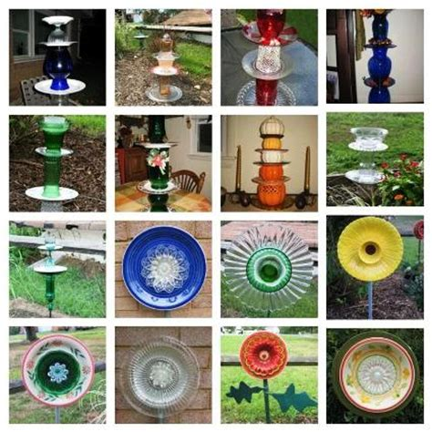 Garden Made From Dishes Easy To Make Dish Flowers