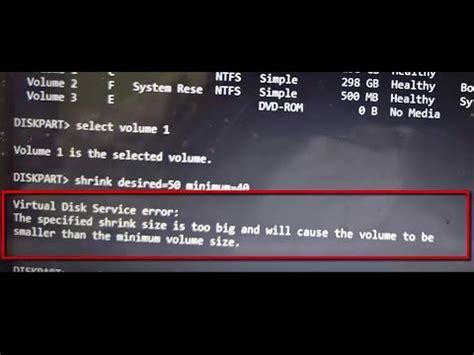 diskpart format virtual disk service error how to fix virtual disk service error the specified