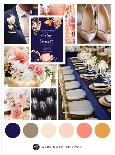 bold navy and pink coral blooms go with complementary hues for a refreshing look this 2016