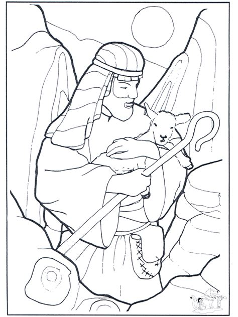 good shepherd coloring page az coloring pages