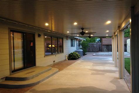 patio ceiling fans with lights pictures of alumawood newport patio covers