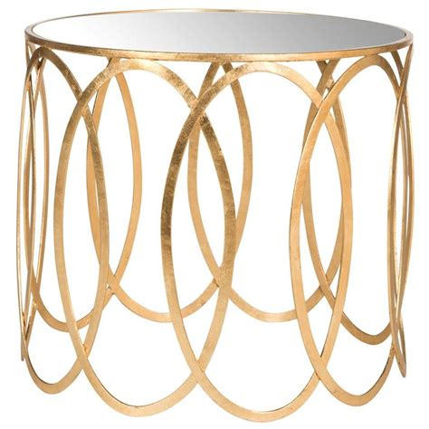 gold end table home decorators collection aged gold glass top end
