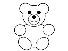 teddy template to print teddy template clipart best