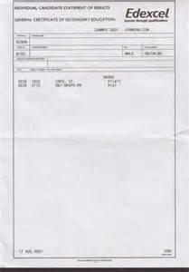 Gcse Certificate Template Sample Gcse Statement Of Results Studential Com