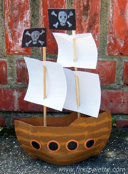 How To Make A Paper Pirate Ship - create a mayflower ship or a pirate ship using paper
