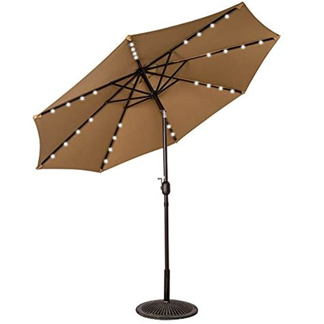 Lighted Patio Umbrella Solar Sundale Outdoor Solar Powered 32 Led Lighted Outdoor Patio Import It All