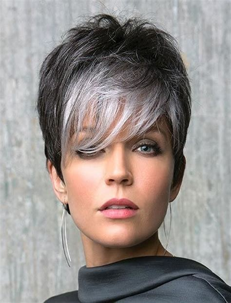 coolest gray hairstyles   lenght  age