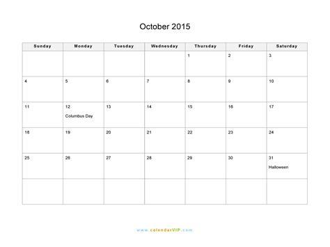 printable calendar october 2015 excel october 2015 calendar blank printable calendar template