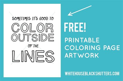 Color Outside The Lines Million Color Outside The Lines Printable Coloring Page White