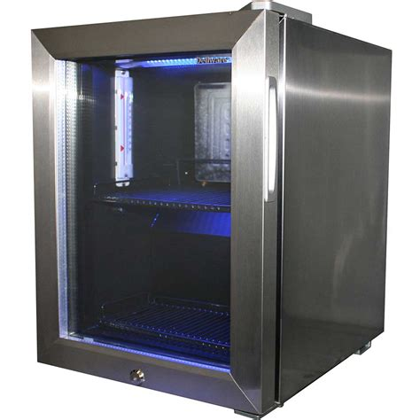 Mini Glass Door Bar Fridge All Stainless Steel With Lock Mini Glass Door Fridge