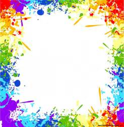 colorful border colorful paint splatter border wallpapers gallery
