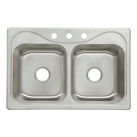 Sterling Kitchen Sink Sterling Southhaven Drop In Stainless Steel 22 In 3 Bowl Kitchen Sink 11850 3 Na
