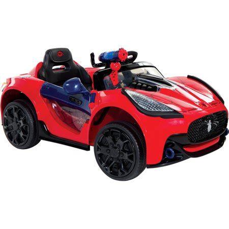spider man super car 6 volt battery powered ride on