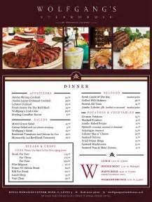 S Steakhouse Menu Wolfgang S Steakhouse Gt Waikiki Restaurants