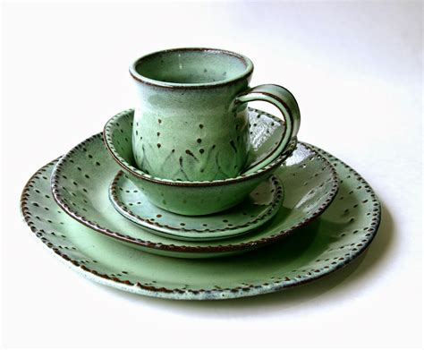 Handmade Stoneware Dinnerware - back bay pottery country handmade dinnerware by
