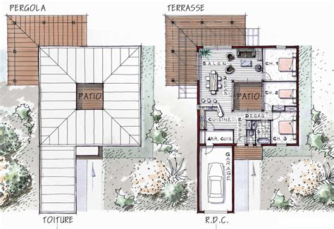 plan maison patio central maison bois avec patio central on43 jornalagora