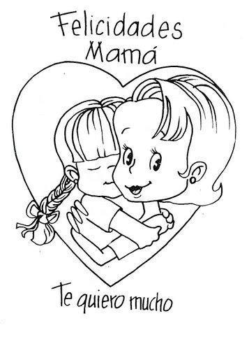 imagenes de amor para dibujar para mama dibujos de felicidades mam 225 para colorear y dedicar en el