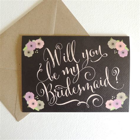 will you be my will you be my bridesmaid card by project pretty