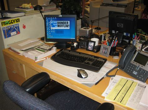 The Office It by Dwight Schrute S Desk Kristin Eonline The Office
