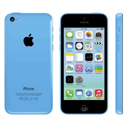 iphone walmart refurbished apple iphone 5c 16gb blue unlocked gsm walmart