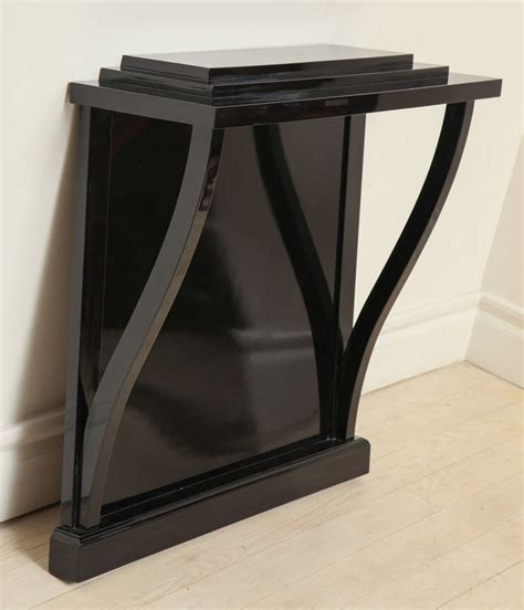 Wall Console Table Italian Black Lacquer Wall Mounted Console Table At 1stdibs