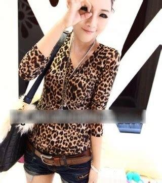 Promo Murah Kemeja Katun Ld 88 Cm Tangan Pendek 4 Warna Jojo Slim baju motif leopard 2013 model terbaru jual murah