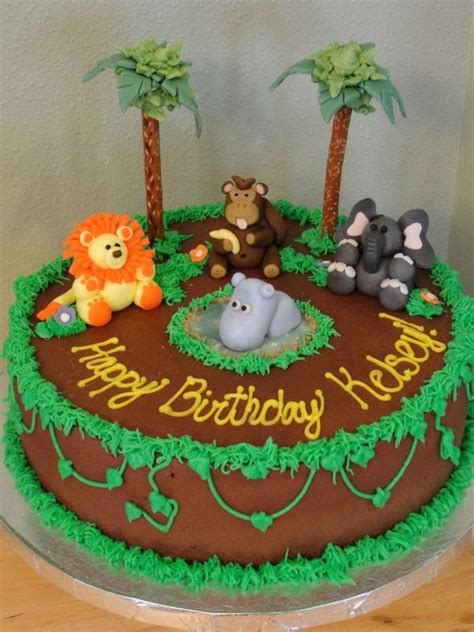 jungle themed birthday cake jungle cake kids party ideas pinterest jungle cake