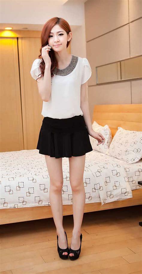 Dress Dress Korea Baju Korea 185 baju atasan sifon cantik warna putih rp 185rb