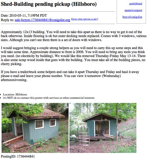 houses on craigslist free tiny house on craigslist