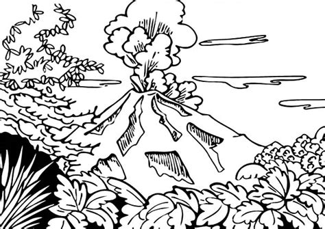 coloring book views volcano coloring pages bestofcoloring