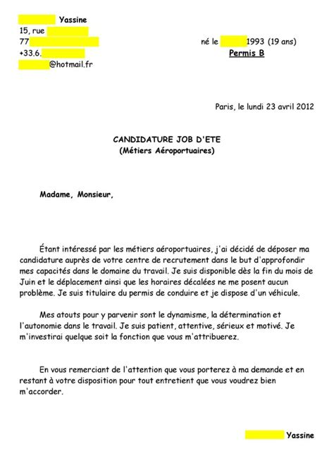 Lettre De Motivation Visa Etude Lettre Motivation Etudes Etranger Est Premiere Lettre Motivation