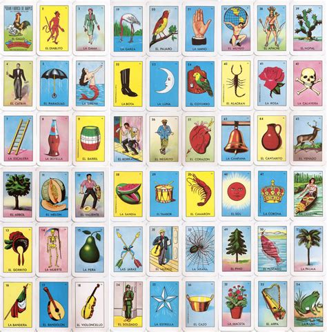 loteria mexican bingo cards printable